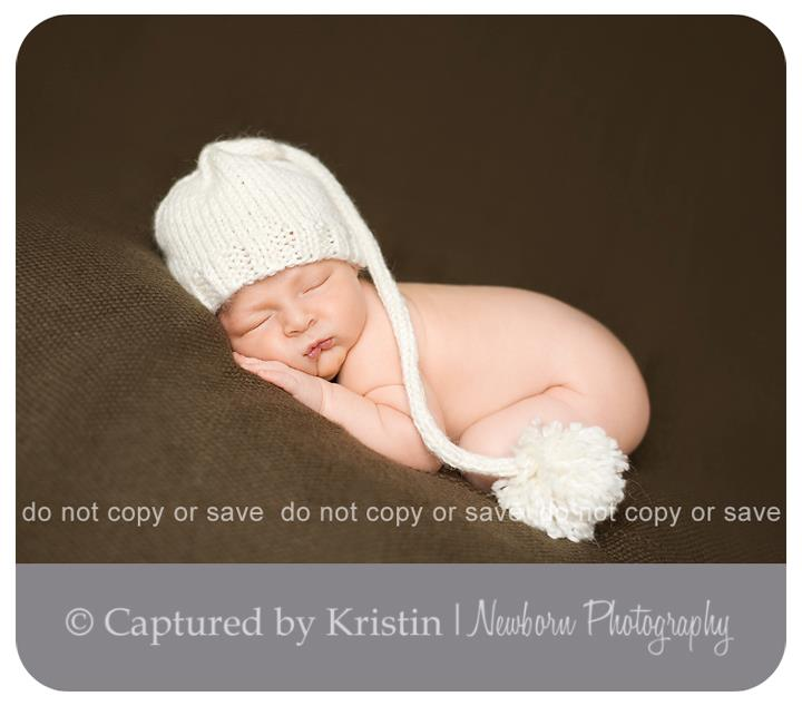 Baby picture taken in Guelph, Ontario by Captured by Kristin Newborn Photography