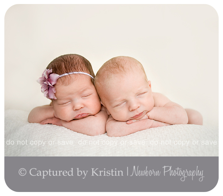 Newborn Twin Babies Photographed in Guelph, Ontario
